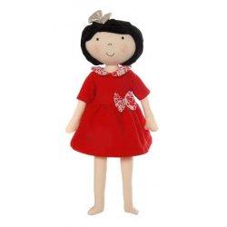 Czerwona sukieneczka z kokardką - rozmiar XS