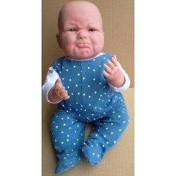 Śpioszki niebieskie - ubranko dla lalki rozmiar S