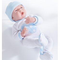 Lalka La Newborn - ziewający chłopczyk, ubranko z serduszkiem