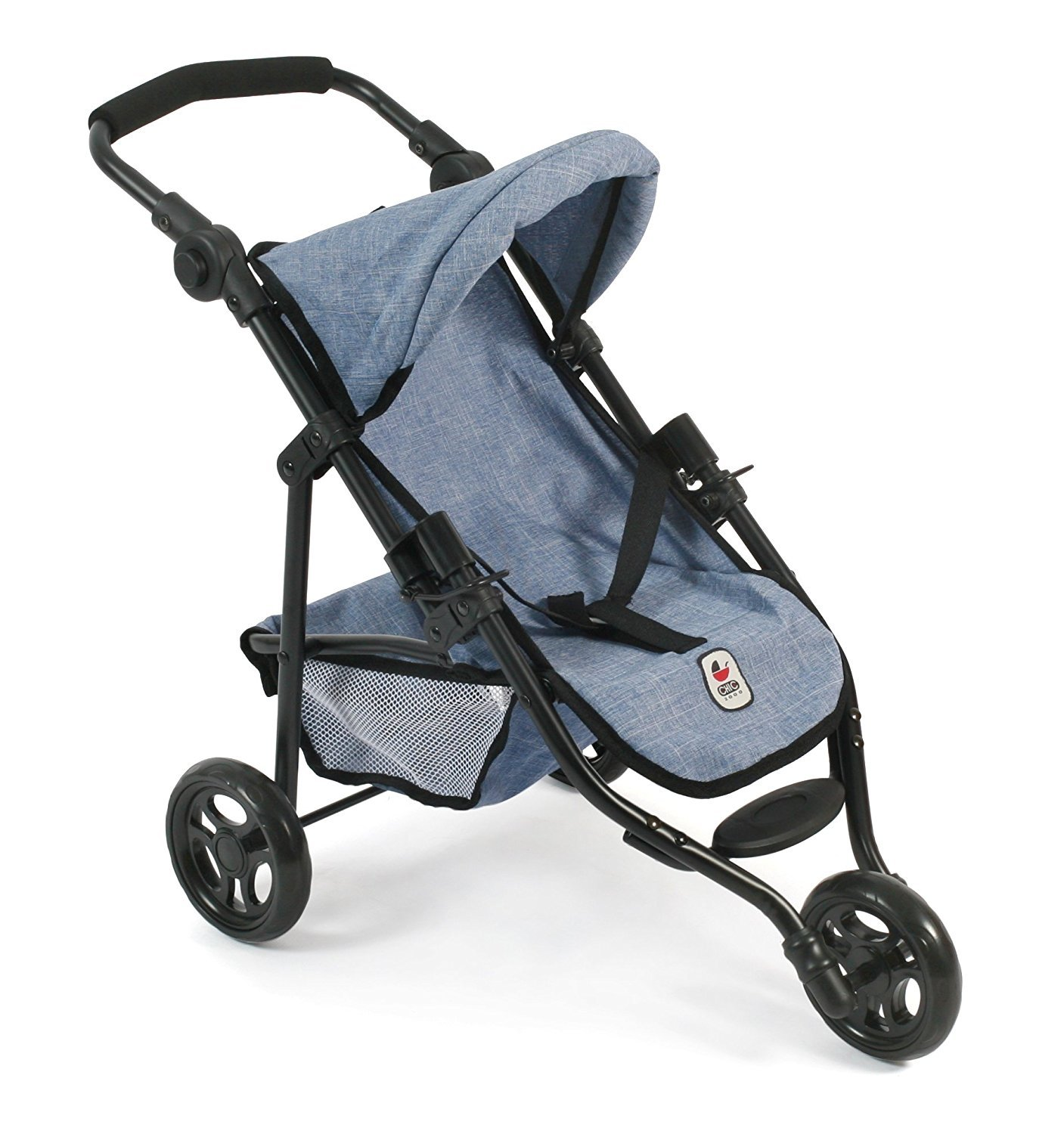 3 wheeler doll stroller denim blue
