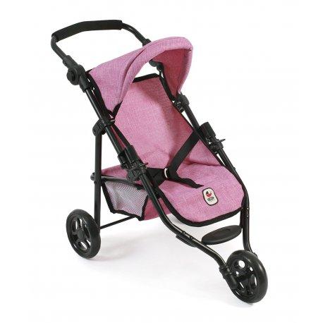 Trójkołowy wózek dla lalek - Denim Blue