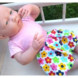 Zestaw dla lalki - body i spódniczka margaretki
