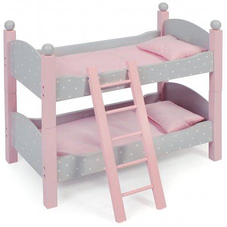 Łóżeczko dla Lalek Piętrowe - Róż - Bayer Chic 513 91