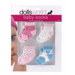 Shoes and two pair of socks for baby dolls