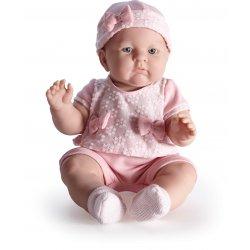 Lily, duża lalka bobas w różowej sukieneczce, Berenguer.