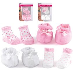 Dolls World Shoes & Socks Pink/White