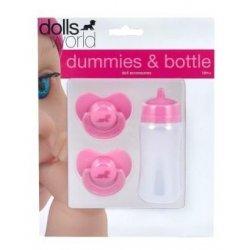 Zestaw dla lalki - smoczek i butelka - Peterkin dolls world