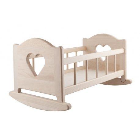 Drewniana Kołyska dla Lalki Zaprojektowana dla lalek Berenguer do 50 cm
