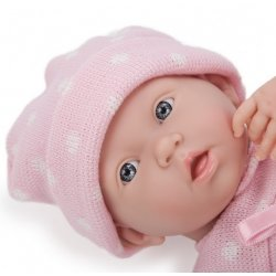 """La Newborn 15"""" Real Girl - Dressed in a Pink and White"""