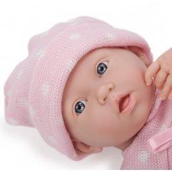 Lalka Bobas Dziewczynka w ubranku w kropeczki