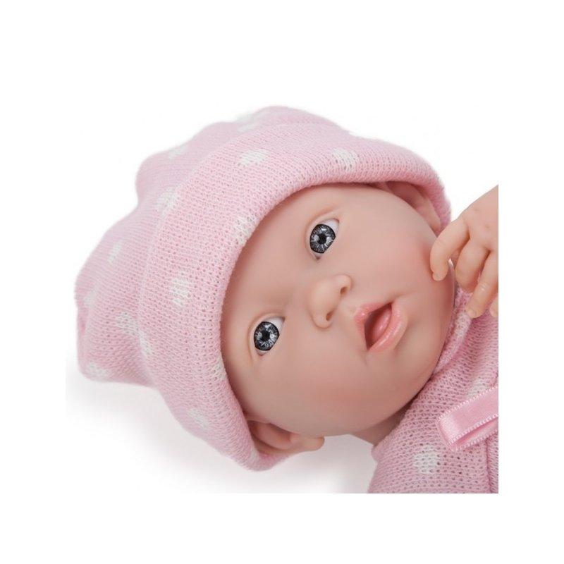 Lalka Bobas - bez czapeczki - lekko uśmiechnięta lalka Berenguer