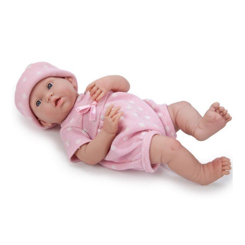 Lalka Bobas - delikatnie uśmiechnięta - jak dziecko