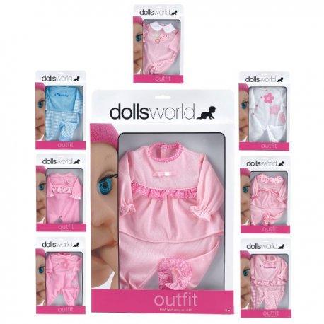 Pajacyk dla lalki, różne wzory, do 46cm - Peterkin, doll's world