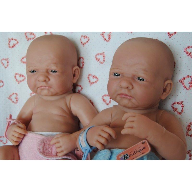 Dwie lalki Bobasy siedzące sobie i płaczace - mają śliczne pileuszki - Berenguer