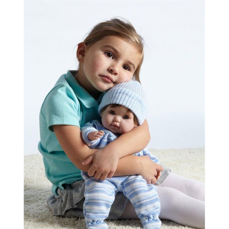 Lalka Noni w niebieskim ubranku - miękki brzuszek i włoski - Berenguer