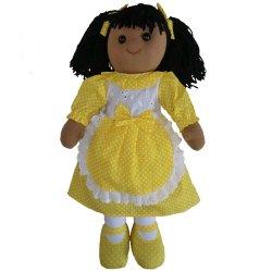 Lalka szmaciana - żółty fartuszek - Powell Craft