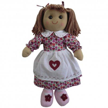 Lalka szmaciana - różowy fartuszek - Powell Craft