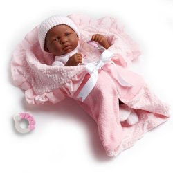 African American - Soft Body Doll - Deluxe Layette Gift Set