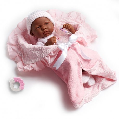 Lalka noworodek murzynek + akcesoria