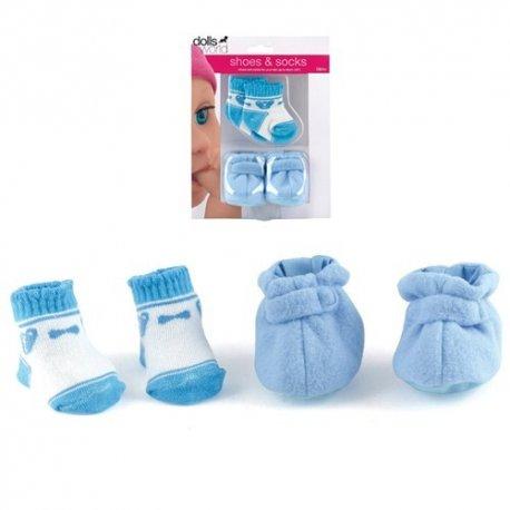 Zestaw butki i skarpetki dla lalki, niebieskie - Peterkin Dolls World