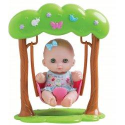 Laleczka Bibi na huśtawce - zielone oczy - Lil Cutesies
