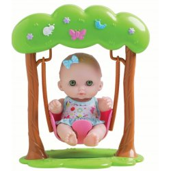 Lil Cutesies Doll on Swing - JC Toys