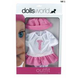 Pajacyk dla lalki, różne wzory, do 41cm - Peterkin, doll's world