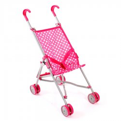 Small Doll's Pram Mini Buggy Roma - Pink