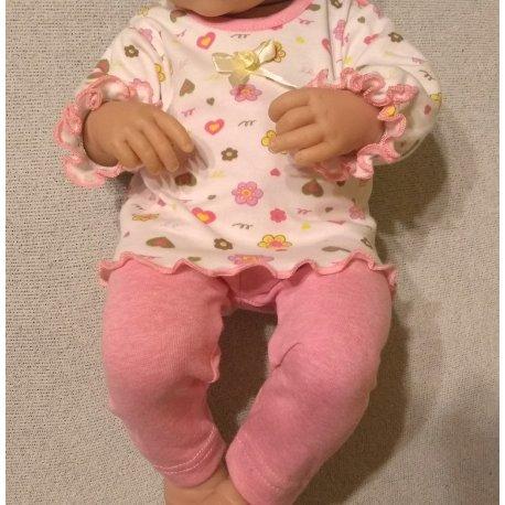 Bluzeczka i legginsy dla lali Berenguer, rozmiar L