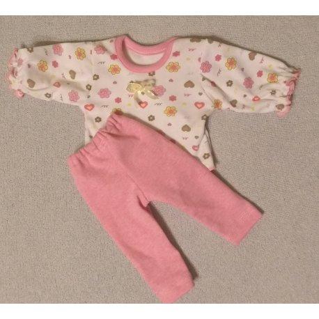 Ubranko dla lalki - rozmiar M - bluzeczka, legginsy