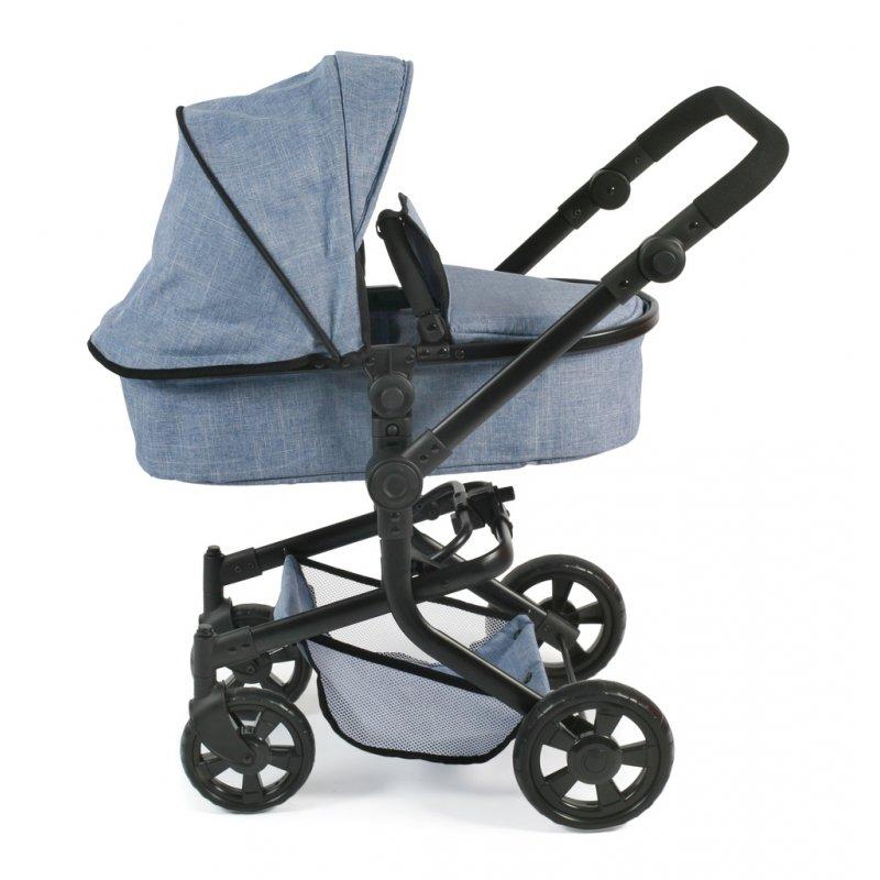 Wózek dla lalek Kombi MIKA - Bayer Chic Jeans Blue