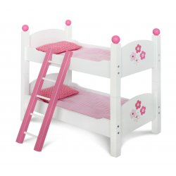 Łóżeczko dla Lalki / Lalek Piętrowe Drewniane - Bayer Chic 503 99