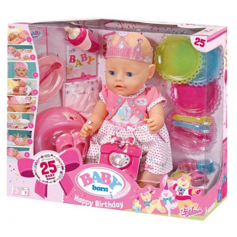 Baby Born Happy Birthday Interactive Doll