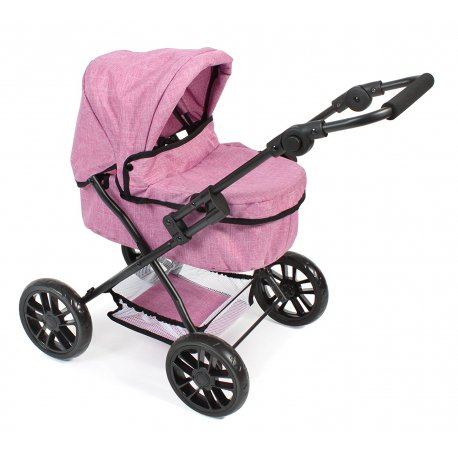 Wózek dla Lalek Picobello - Różowy Jeans - Bayer Chic 556 70