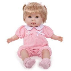 Nonis Blonde Baby Doll in Pink - 38 cm
