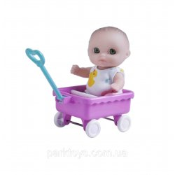 Laleczka Mini Nursery 14 cm - W wózku - Berenguer