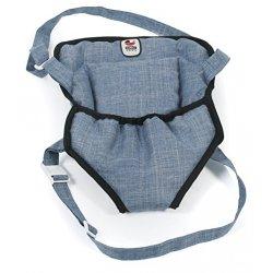 Nosidełko dla Lalki na szelkach, kolor Jeans Blue - Bayer Chic 2000