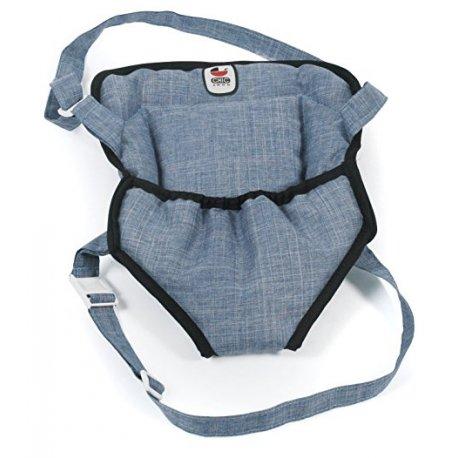 Nosidełko dla Lalki na szelkach w kolorze Jeans Blue