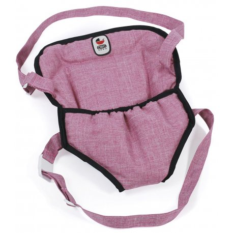 Nosidełko dla Lalki na szelkach, kolor Jeans Pink - Bayer Chic 2000