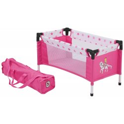 Dolls Travel Cot - Pony and Princess