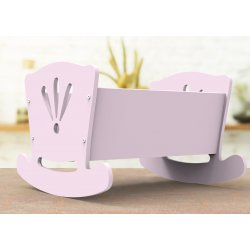Beautiful Pink Cradle for Doll