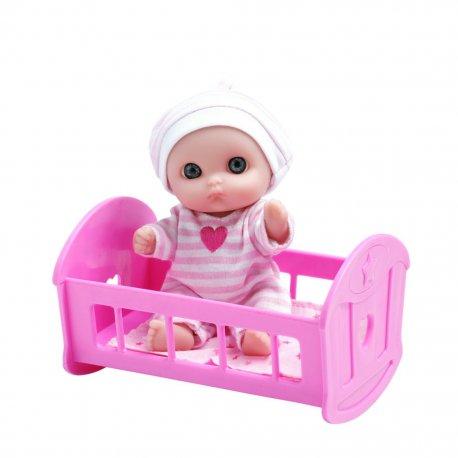 Mała laleczka z łóżeczkiem - Lil Cutesies 5cali