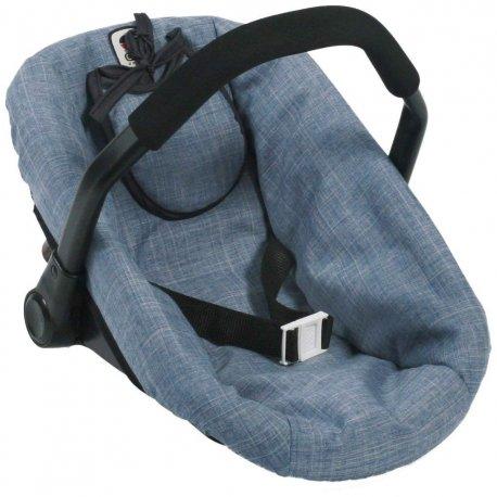 Nosidełko dla lalki do samochodu - Niebieski Jeans