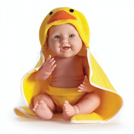 Lalka bobas Kaczuszka z żółtym ręcznikiem - Berenguer 18005_k