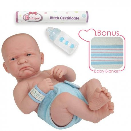 Lalka bobas noworodek + bonus Kocyk oraz Butelka