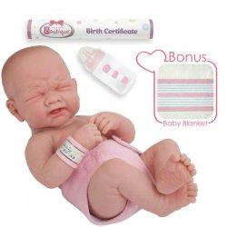 "La Newborn Doll ""First Tear"" 15"" Real Girl - Spanish Doll"
