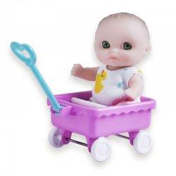 Mała laleczka bobas w wózeczku - JC Toys 16912