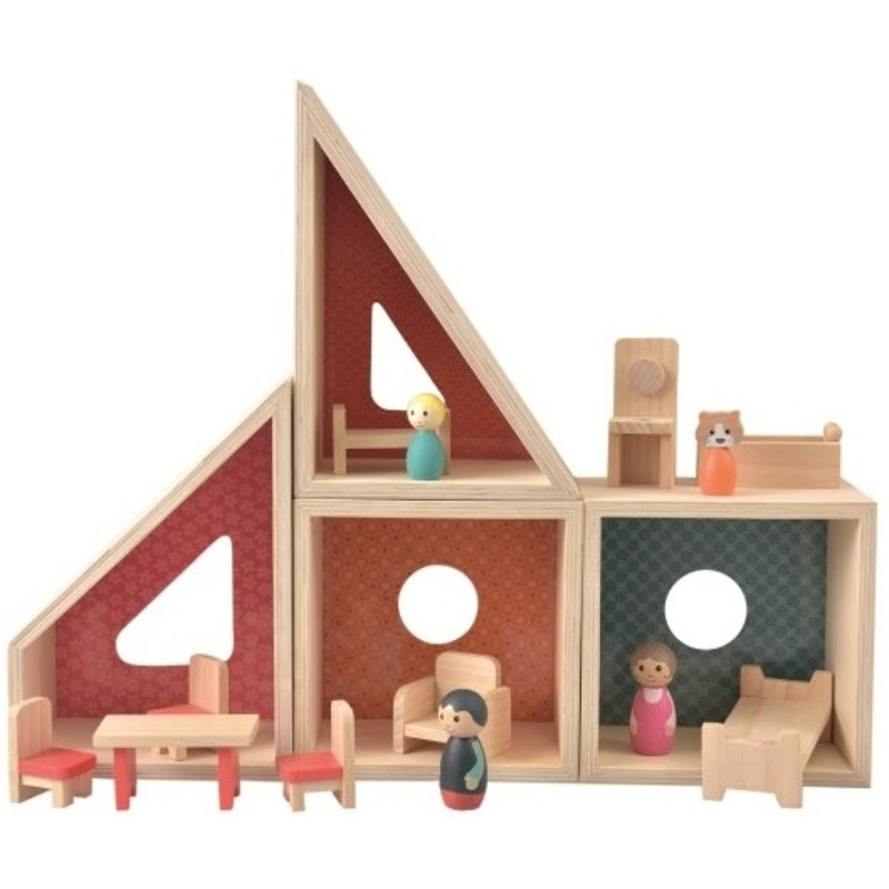 Drewniany domek dla lalek - Egmont Toys