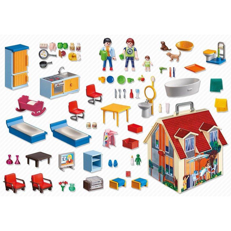 Playmobil 5167 - przenośny domek dla lalek z akcesoriami