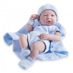 La Newborn Doll in blue outfit - boy 18540